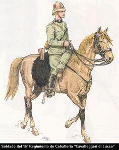 Italy; Italo-Turkish War 1911-12. trooper, 16th Cavalry Regiment' Cavalleggeri di Lucca'