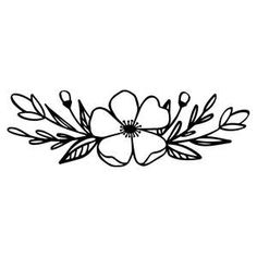Flower Bouquet Drawing, Spring Flower Bouquet, Flower Line Drawings, Simple Line Drawings, Easy Drawings, Spring Flowers, Hand Embroidery Flowers, Embroidery Patterns, Silhouette Design