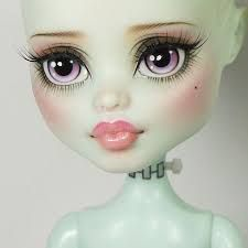 Image result for repainted monster high dolls