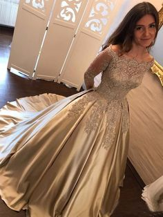 Plus Size Prom Dress, Satin Prom Dress,Ball Gown Prom Dress,Long Sleeve Bridal Gowns,Lace Prom Gown Shop plus-sized prom dresses for curvy figures and plus-size party dresses. Ball gowns for prom in plus sizes and short plus-sized prom dresses Lace Prom Gown, Gold Prom Dresses, Elegant Prom Dresses, Formal Dresses For Women, Prom Dresses Online, Cheap Prom Dresses, Dress Prom, Dress Formal, Lace Corset