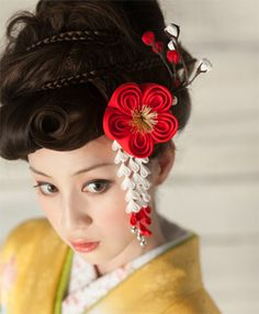 Korean Hairstyles Women, Asian Men Hairstyle, Modern Hairstyles, Wedding Hairstyles, Japanese Hairstyles, Asian Hairstyles, Asian Eye Makeup, Hair Arrange, Oriental Fashion