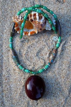 Ocean Isle Turquoise and Silver Sea Heart by TheEclecticOcean