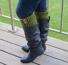 Brooklyn Crochet Boot Liners Kit - Crocheting Kit includes Yarn & Pattern!