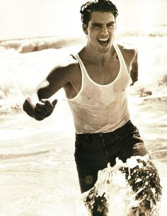 """Tom Cruise """" Tom in Progress """" by Herb Ritts L'Uomo Vogue October 1993 Tom Cruise Smile, Beautiful Men, Beautiful People, Herb Ritts, Vogue Editorial, Black And White Prints, Advertising Photography, Art Photography, Fashion Photography"""