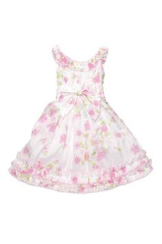 Biscotti Girls Watercolors Print Poplin Dress with Ruffled Hem in Pink - Size 10 Biscotti Pink Spring Dresses, Girls Easter Dresses, Little Girl Dresses, Girls Dresses, Little Fashion, Girl Fashion, Poplin Dress, Indie Brands, White Dress