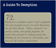 A Guide To Deception — I'm going to go ahead and take over this one...