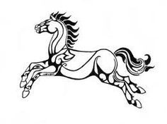 """Celtic Horse - Flag of Rohan by Faelyne - from """"The Lord of the Rings"""" Elbisches Tattoo, Lotr Tattoo, Ring Tattoos, Nerd Tattoos, Celtic Horse Tattoo, Lord Of The Rings Tattoo, Lord Rings, Character Sketches, Stuff And Thangs"""