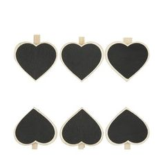 Chalkboard Pegs - Pack of 6 Craft Supplies Online, Buy Art, Chalkboard, Heart Ring, Arts And Crafts, Jewelry, Classroom Resources, Fairy, Jewels
