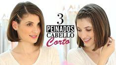 3 Peinados fáciles para cabello corto