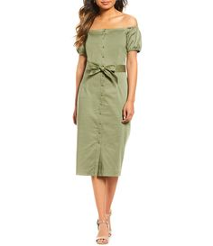 606b27e3981 Shop for Antonio Melani Kenna Off the Shoulder Midi Dress at Dillards.com.  Visit