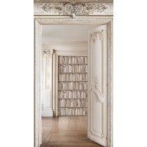 Revêtement mural en velours Double portes biblio Haussmannienne - Koziel.fr