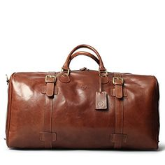 3e551cc660 Maxwell Scott® PERSONALISED Luxury Italian Leather Extra Large Luggage Bag  (FleroEL) DO NOT