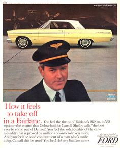 1965 Ford Fairlane 500 Sports Coupe - How it feels to take off in a Fairlane - Original Ad