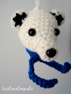 PATTERN Polar Bear Amigurumi ornament to crochet for mommy-to-be or a family with little ones who need unbreakable ornaments :) - Instant Download