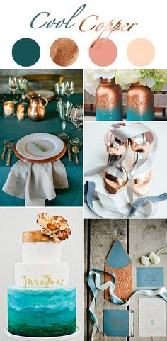 Teal and copper wedding colors so so pretty i think i would cool copper wedding color scheme junglespirit Gallery