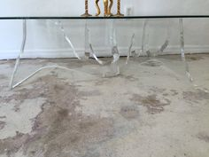Large Vintage Lucite Table Signed by SoAkiba on Etsy
