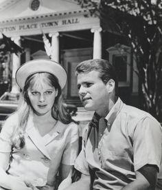 Mia Farrow and Ryan O'Neal in Peyton Place