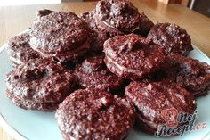 Brabantské dortíčky s marcipánem Christmas Sweets, Christmas Goodies, Christmas Baking, Pavlova, Lchf, Nutella, Gluten Free, Cookies, Chocolate