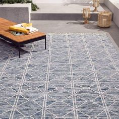 west elm Reflected Diamonds Indoor/Outdoor Rug