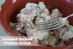 The Larson Lingo: Summer Salad Swap: Loaded Baked Potato Salad