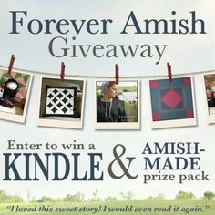 """Forever Amish"" by Kate Lloyd is receiving high praise from readers. Click to learn more and enter Kate's Amish-made giveaway (includes Kindle Fire!)"