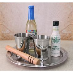 Get everything you need to make Mint Juleps, one of America's most iconic and oldest cocktail, and a favorite of the Kentucky Derdy. This kit includes two Mint Julep Cups, along with Rock Candy Syrup, Mint Bitter, Wooden Muddler and Straws. Just add Bourbon.