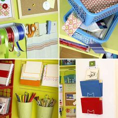 16 Trendy Home Office Organization Diy Dollar Stores Trips Home Office Organization, Organization Hacks, Organizing Life, Organising, Apartment Hacks, Apartment Therapy, Trendy Home, Space Crafts, Better Homes And Gardens
