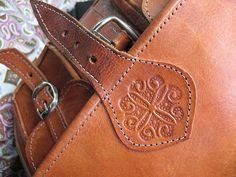 Moroccan Leather - strap embellishment