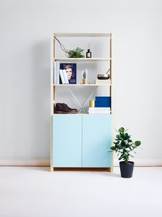 Simple, colorful, organized Classic Shelves, Living Spaces, Living Room, Lund, Bookshelves, Shelving, Furniture Design, Colours, Storage