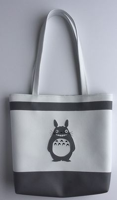 Totoro vinyl tote bag by FlatCatShop on Etsy Totoro, Tote Bag, Trending Outfits, Unique Jewelry, Handmade Gifts, Bags, Etsy, Vintage, Kid Craft Gifts