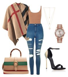 Untitled #231 by mtimkulu-masto-sakhile-lindelani on Polyvore featuring polyvore Burberry Topshop Eres Casadei Gucci Natalie B Rolex fashion style clothing