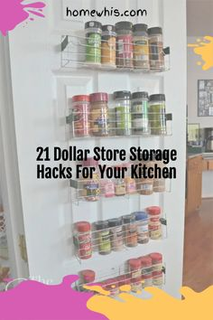 Here are 21 organization ideas to organize your whole kitchen with a single trip to the dollar store! These Dollar Store organization ideas will declutter your kitchen, increase storage space, keep everything perfectly organized and will save you lots of money! How to organize under the kitchen sink, kitchen cabinet, pantry, countertop, fridge are included! Visit the post to learn how! #homewhis #dollarstore #dollarstoreorganization #kitchenorganization #cabinetorganization Storage Hacks, Organization Hacks, Storage Baskets, Organizing, Chest Freezer Organization, Under Kitchen Sink Organization, Cupcake Liner Storage, Spice Bottles, Dollar Tree