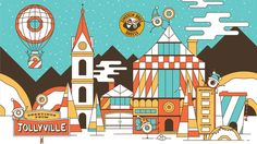 Retro christmas theme colors - Einstein Bros Bagels