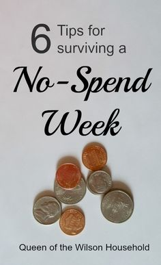 6 Easy Tips for a No Spend Week that will help save money