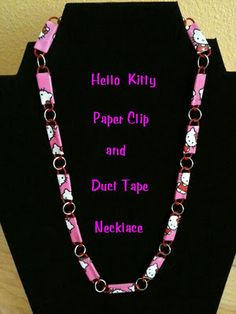 Duct Tape Paper Clip Necklace