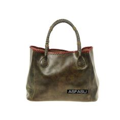 "Jasper Green Oil-tanned Leather Tote Bag Material:Oil-tanned Leather Measurements: 14.5""/37cm L, 5.1""/13cm W, 10.2""/26cm H,  Type:Tote Lining:Satin Hardware Color:Gold http://www.asfasu.com/index.php/new-arrivals/14516-jasper-green-oil-tanned-leather-tote-bag.html"