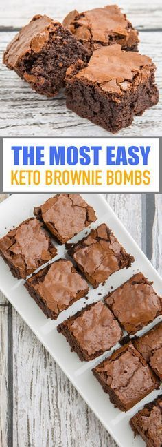 The Most Easy Keto Brownie Bombs – mamarecipes.club The simplest keto-brownie bombs – mamarecipes. Keto Desserts, Keto Snacks, Dessert Recipes, Keto Sweet Snacks, Keto Friendly Desserts, Recipes Dinner, Snack Recipes, Keto Brownies, Chocolate Brownies