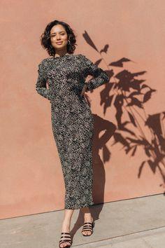 Karah Dress Dots – Lily Fools Fall In Love, Ribbed Fabric, Dot Dress, Wrap Dress, Charlotte, March, Dots, Lily, Neckline