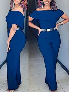 Sexy Off Shoulder Casual Jumpsuit