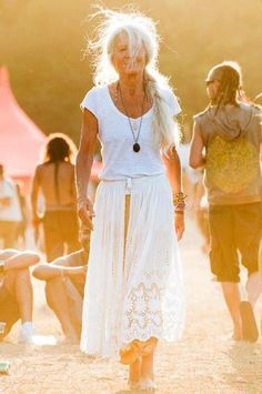 This is what I want to look like when I'm older. Free, happy, white haired, and comfortable in my own skin.