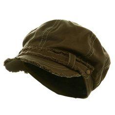 Frayed Washed Newsboy Cap - Olive at Amazon Women s Clothing store  Baseball  Caps a27c96b83136
