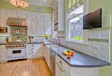 Green / white / gray for kitchen