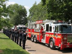Funeral procession for NYC Fire Lt. Gordon Matthew Ambelas entering ...