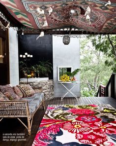 Ethnic decoration on a porch / living room.