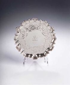 Lot 211 - A George III colonial silver waiter, The Saleroom, Colonial, Silver, Money