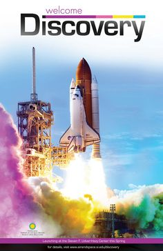 Commemorative Poster to welcome Space Shuttle Discovery to the Smithsonian National Air and Space Museum in April, 2012.
