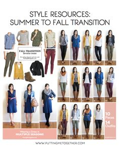 La transición del #verano al #otoño. Style Resources for Transitioning from #Summer to #Fall