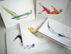 5 Pilates Notecards by LindsaySatchell on Etsy
