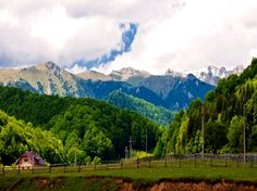 View on the Carpathian Mountains from Cheia town https://www.facebook.com/branding.prahova