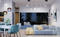 طراحي خونه با طيف رنگيه ملايم و مدرن به نظرم طيف رنگيه ملايم باعث ارامش بيستر تو خونه ميشه نظر شما چيه؟  Plaster Walls, Small Apartments, Living Room Designs, Kitchen Design, Kids Room, Couch, Interior Design, Bedroom, Modern